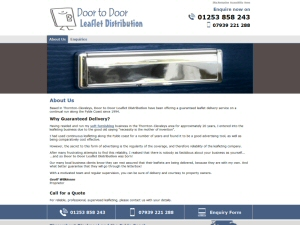 Screenshot - Door to Door Leaflet Distribution website