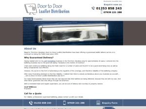 Screenshot - Door to Door Leaflet Distribution website
