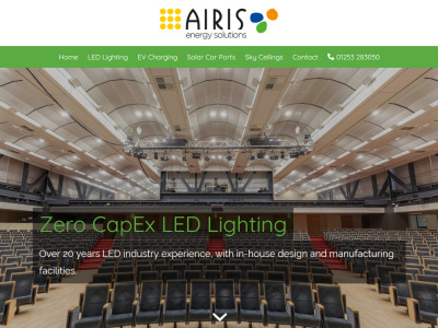 Screenshot - Airis Energy Solutions UK website