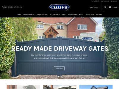 Screenshot - Cellfab Ltd website