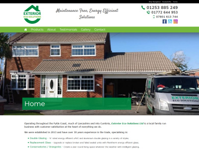 Screenshot - Exterior Eco Solutions Ltd website