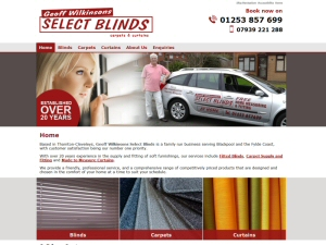 Screenshot - Geoff Wilkinsons Select Blinds website