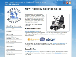 Screenshot - Mobility Workshop website