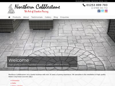 Screenshot - Northern Cobblestone website
