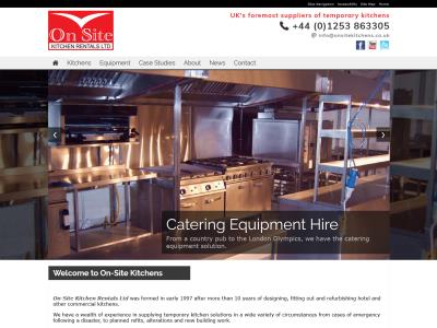 Screenshot - On-Site Kitchen Rentals Ltd website