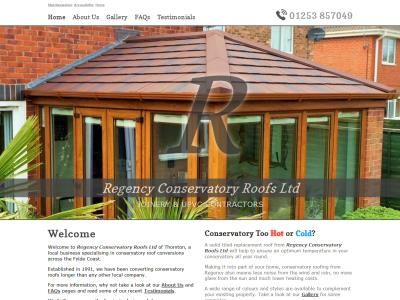 Screenshot - Regency Conservatory Roofs Ltd website
