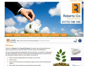 Screenshot - Roberts and Co website