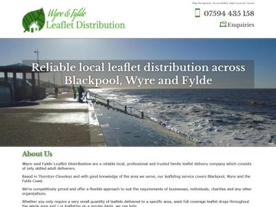 Screenshot - Wyre and Fylde Leaflet Distribution website