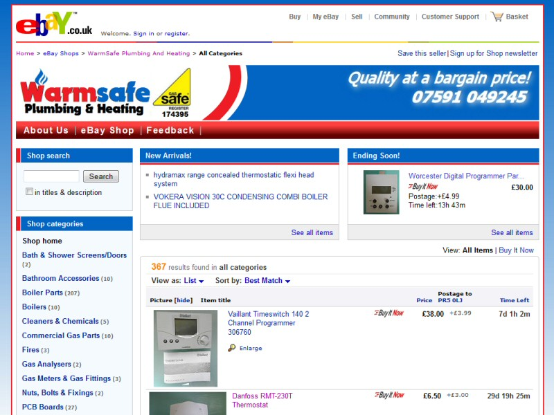 A styled and branded template for your eBay shop front can dramatically increase sales