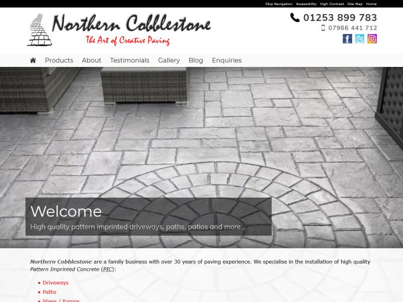 Northern Cobblestone Website, © EasierThan Website Design
