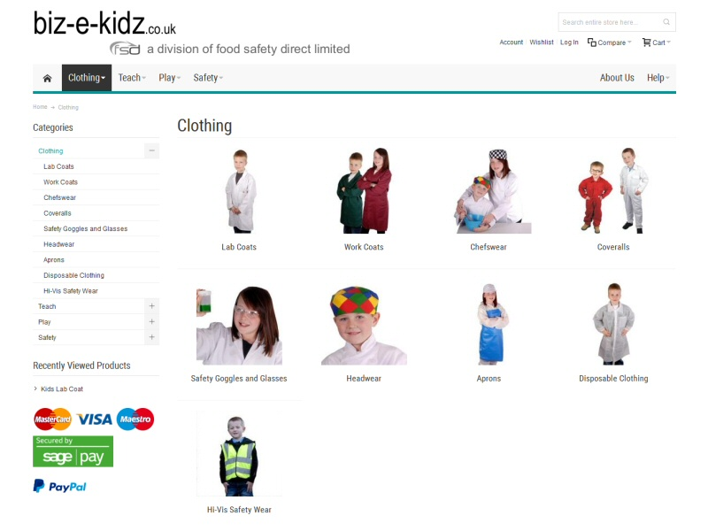 Biz-e-Kidz Website, © EasierThan Website Design