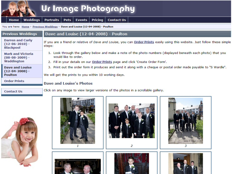 Ur Image Photography Website, © EasierThan Website Design