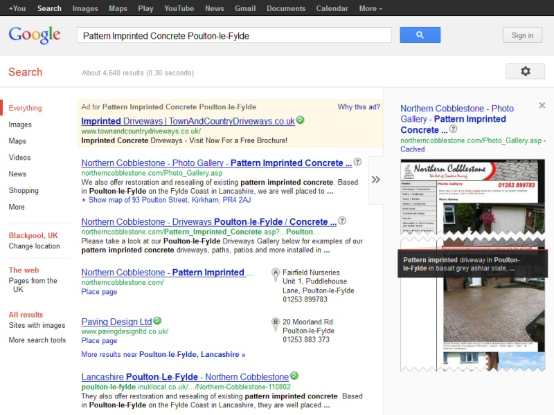 EasierThan customer ranked #1 in Google for a relevant search in their area