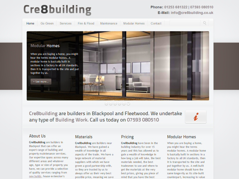 Cre8building Website, © EasierThan Website Design