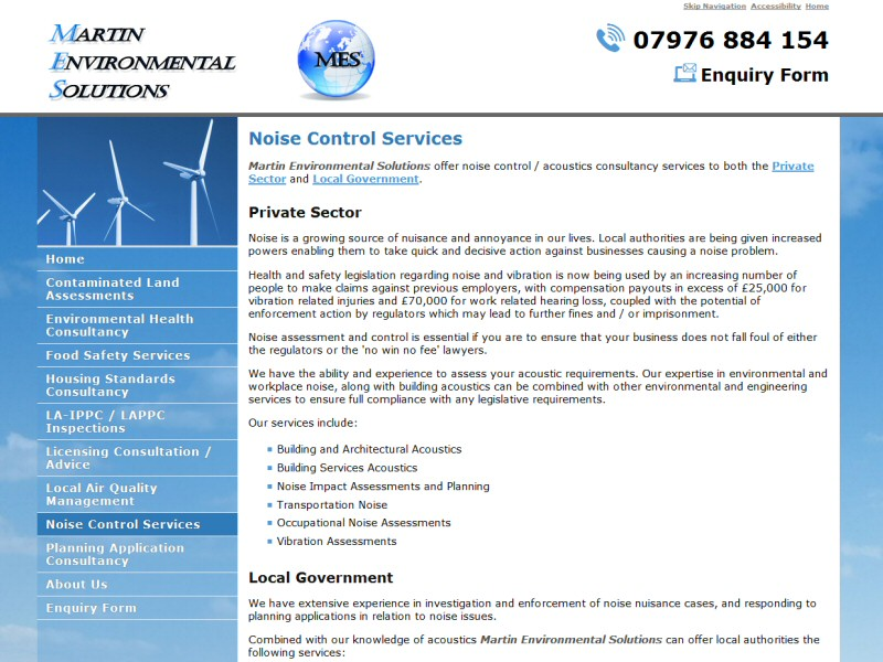 Website design for a Blackpool business offering environmental health services in Lancashire